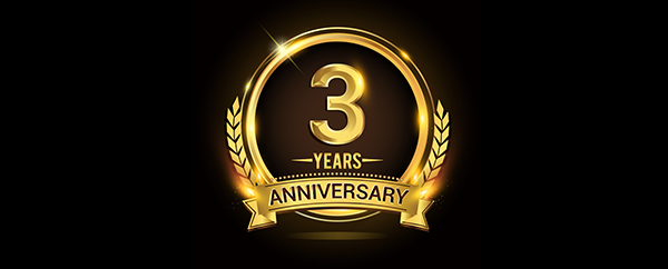 It's Core Commercial's third anniversary